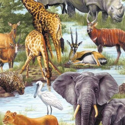 Animal Kingdom Puzzle - 100 Piece Jigsaw PuzzleIt's a wild, wild world as well as a peaceable kingdom in this puzzle capturing some of the most familiar and beloved of African animals. Here, gazelle and kudu rest peacefully around the communal watering hole with watchful lions and thirsty cheetahs. The blue sky, the soft greens, and the rich colors of this puzzle bring a distant world to life and let the imagination unfold. With a Springbok children's puzzle, we know how to mix play along with your child's developmental and creative needs. Made with Springbok quality, our children's puzzles help little ones develop their reasoning and logic skills, their fine motor skills, and even the ability to focus attention whether working alone or with others.