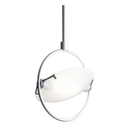 "Fontana Arte - Fontana Arte Nobi pendant light - The Nobi pendant light has been designed by Metis for Fontana Arte. Hanging lamp. Chrome-plated, aluminium grey-painted or satin nickel-plated metal frame. Pressed, sandblasted and tempered glass diffusers. Anodized aluminium reflector. The lamp is provided with a spacer box. UL Listed.  Product Details:   The Nobi pendant light has been designed by Metis for Fontana Arte. Hanging lamp. Chrome-plated, aluminium grey-painted or satin nickel-plated metal frame. Pressed, sandblasted and tempered glass diffusers. Anodized aluminium reflector. The lamp is provided with a spacer box. UL Listed. Details:                            Manufacturer:                         Fontana Arte                                         Designer:                        Metis - 1992                                         Made in:            Italy                             Dimensions:                         small: Height: 14 1/8"" (36 cm) X Width:  5 7/8"" (15 cm)             large: Height: 21 1/4"" (54 cm) X Width: 5 7/8"" (15 cm) X Max Height: 33 7/8"" (86 cm)                                         Light Bulb:                        small: 1 X 150W R7s Halogen             large: 1 X 150W R7s Halogen                                         Material:                         glass, aluminum"