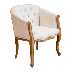 Great Deal Furniture - Morrison French Light Brown Accent Chair, Beige - Add a touch of elegance to your home with the Morrison French inspired chair. This chair is a standout option for entertaining guests or taking some time to relax in yourself. The unique design of the legs and frame is complimented by the fabric coloring to exude a feeling of vintage delicacy to your living space.