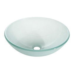 Avanity - Tempered Glass Vessel - Tempered Glass Vessel - Frosted