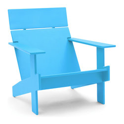 Loll Designs - Lollygagger Lounge, Sky Blue - Sometimes there's nothing wrong with letting the day get away from you. Grab a book and glide back into this breezy lounge chair. Its angled design nestles you in comfort, confirming that you're doing exactly the right thing.