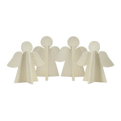 The Felt Store - Decorative Felt Angel - 4 Pack, White - The Felt Store's Decorative Angel is the perfect home decoration. Whether you use it to bring in some much needed holiday cheer to any room, or to add to your child's holiday craft projects, the Decorative Angel is the perfect accompanying piece to all of your home decor ideas. Available in both single units as well as a 4 pack in red and white.