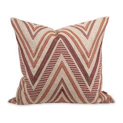 Imax - IK Kamaria Brown Beige Embroidered Pillow with Down Viscose Decor - IK Kamaria brown beige embroidered pillow with down viscose decor Imax 42193