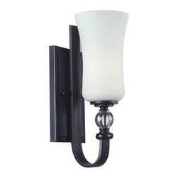 Z-Lite - Z-Lite 604-1S Harmony 1 Light Wall Sconce with White Glass Shade - Features: