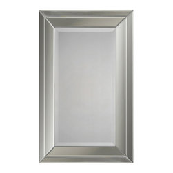 Ren-Wil - Ren-Wil MT921 Portrait Mirror in All Glass - Double beveled mirror frame. Beveled center mirror.