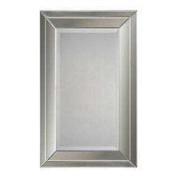 Ren-Wil - Ren-Wil MT921 Portrait Mirror in All Glass - Double beveled mirror frame. Beveled center mirror.
