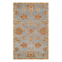 Surya - Surya Langley Traditional Hand Tufted Wool Rug X-319-3001GAL - Available in five colors, the Langley Collection is a classic traditional pattern. These rugs are hand tufted from 100% wool and feature a hard twist texture.
