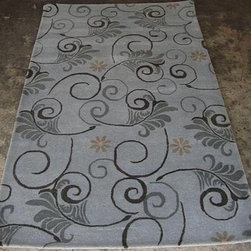 """Safavieh - Contemporary Soho 7'6""""x9'6"""" Rectangle Grey - Multi Color Area Rug - The Soho area rug Collection offers an affordable assortment of Contemporary stylings. Soho features a blend of natural Grey - Multi Color color. Hand Tufted of Wool the Soho Collection is an intriguing compliment to any decor."""