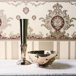 Damask Border - Give your walls a traditional look with a modern flare with wallpaper from the Regent Collection by Brewster