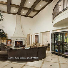 Mediterranean Family Room by Architectural Designs