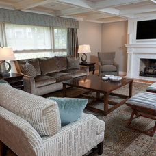 Transitional Living Room by Stacey Cohen Interior Design