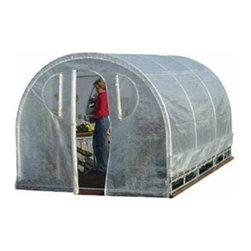 "Jewett-Cameron Companies - Weatherguard Round Top Greenhouse, 8'L x 8'W x 6'6""H - Spring Gardener Greenhouse"