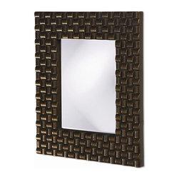 Howard Elliott - Justin Mirror in Bright Copper - Frame Size: 22 in. x 26 in. x 1 in.