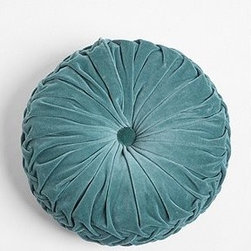 Round Velvet Pintuck Pillow - This would go well in my hanging chair. It's the perfect cushion for my tush!