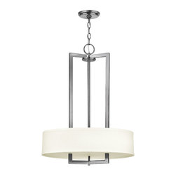 Hinkley Lighting - Hampton Pendant - If geometry was your favorite subject, you will have to have this chic pendant hanging in your home. The linen shade softens the bold, clean lines and allows pure light to focus on the subject at hand, which is the lighting of your space.