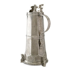 """Match Pewter - Engraved Beer Stein by Match Pewter - In a world dominated by mass production, Match pewter is handmade by artisans in Northern Italy. Its classic forms harmonize with both traditional and modern settings, recalling celebrations at well laid tables. Each piece bears a stamped symbol from the region in which it was made. 21.7"""" H"""