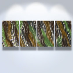 Miles Shay - Metal Art Wall Art Decor Abstract Contemporary Modern Sculpture Hanging- Jewel - This Abstract Metal Wall Art & Sculpture captures the interplay of the highlights and shadows and creates a new three dimensional sense of movement as your view it from different angles.