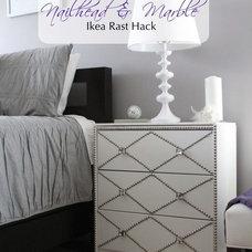 The Abundant Abode: Sunday in Suburbia: Nailhead & Marble Ikea Rast Hack