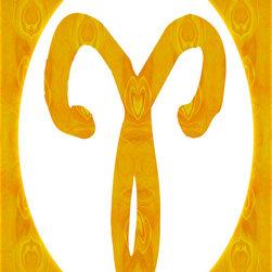 Fine Art America - Aries and Solar Chakra Abstract Spiritual Artwork - March: Aries: Manipura: Solar Chakra: Yellow