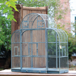French Blue Aviary - No canary cage here! It's four feet wide and just a tad taller and finished in the most heavenly French blue wash. Could be outfitted with perches and swings but we see possibilities that don't involve feathers. A home and garden collection selected that bring happy memories of childhood past. Whether you are looking for period charm, a style of elegant restraint or just want to infuse a spirit of playfulness, you'll find it here.