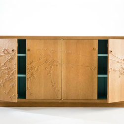 """Pueblo Plum Credenza - Shown in pine • 72""""w x 36""""h x 18""""d • Media option available • Photography by Jen Judge"""