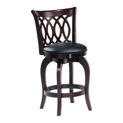 Homelegance - Homelegance Edmond Swivel Counter Height Chair (Set of 2) - Expanding the seating availability in your entertainment or dining space has become much less complicated with the Edmond collection.