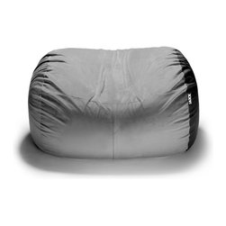 """Jaxx Bean Bags - Jaxx 5.5 ft Lounger Bean Bag Loveseat, Pewter - The 5.5 ft Lounger is the cure for the common loveseat. Traditional furniture can get flat and dirty after a while""""_especially if you have kids. Think outside of the couch with the Lounger. It conforms to you for whatever position you want. Cozy up and watch TV or lay out with a good book; there is room for both. And don""""_t worry about the kids or pets messing up your stylish bag""""_they can jump and wrestle all day long without destroying the soft cover. Available in two sizes to fit any room, we stuff our Loungers with ECOFOAM and cover it in the finest, most breathable materials, so if it does get dirty you can simply unzip the cover and throw it in the wash to be as good as new."""