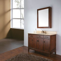 """Avanity MADISON Vanity 36"""" x 21"""" MADISON-V36-TO - The Madison Collection combines function with style. This collection is designed with strong attractive lines and comes in 2 finishes: Tobacco with old bronze hardware and Light Espresso with brushed nickel hardware. It is constructed of solid birch wood and veneer with soft-close door hinges and drawer glides. You have several options of stone tops with backsplash which accommodate undermount sinks. Also available is a matching mirror, mirror storage cabinet and linen tower to complete your bathroom"""