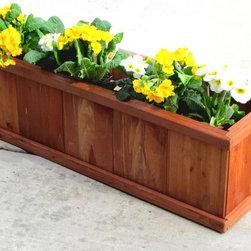 "Robusto 40"" Rectangular Planter Box - Piece O' Cake Design for Easy Assembly"