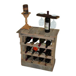 Spencer Valley Eco Farm - Reclaimed 12 Bottle Pallet Wood Wine Rack MADE IN USA! - This item is a Rustic reclaimed pallet wood 12 bottle wine rack made from reclaimed pallet wood and can be used as a floor or counter top application.