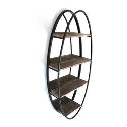 Vertuu Design - Otto  Mirror - Utility meets style in the multiuse Otto Mirror. Featuring an antique mirror, wood shelving and metal framing, this unique piece is perfect for displaying books, flowers and decorative items. Hang it among other rustic design elements for a cohesive look.