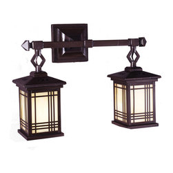 Dale Tiffany - Dale Tiffany 2604/2LMW Avery Lantern 2-Light Wall Sconces in Antique Bronze - Avery Lantern Wall Sconce