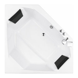 Nameeks - Glass by Nameeks PT000A0 59 in. Eden Drop In Corner Soaking Tub with Outer Panel - Shop for Tubs from Hayneedle.com! Complete the look and feel of your master bath with the contemporary design of the Glass by Nameeks PT000A0 59 in. Eden Drop In Corner Soaking Tub with Outer Panel. This beautiful freestanding tub is made in Italy from the highest-quality acrylic and given a pearl-white finish. Its corner orientation saves space and adds style to any decor. Includes outer panel and drain.Tips to Take Before Taking it Easy in Your Clawfoot or Freestanding TubWe know you're excited to transform your bathroom from dull to indulgent with the addition of a clawfoot tub or a freestanding tub but please consider this important information before taking on your tub.We recommend having a professional plumber install your tub.Make sure your floor can support the weight of the tub whether it's empty or full.Measure the doorway you'll take the tub through to get inside your house and measure your stairwell and your bathroom doorway too to make sure the tub will fit. Remember that some tub feet are not removable.Get prepared with the right parts. You'll need some essentials to enjoy a proper clawfoot or freestanding tub experience. Keep in mind that parts such as the faucet drain supply lines hand-held shower head shower curtain and shut-off valves are sold separatelyWhile you can use universal parts for some tubs you'll find that others require parts that are the same brand as the tub. All of your necessary tub parts are available for purchase here at ClawfootTubs.com.Have your plumber ensure that your tub is level. To prevent the tub from moving and to protect your floor try placing coasters underneath the tub feet.After the tub is installed see that your plumber turns the water on and makes sure everything works and drains properly.Now don't forget the bubbles!About NameeksFounded with the simple belief that the bath is the defining room of a household Nameeks strives to design a bath that shines with unique and creative qualities. Distributing only the finest European bathroom fixtures Nameeks is a leading designer developer and marketer of innovative home products. In cooperation with top European manufacturers their choice of designs has become extremely diversified. Their experience in the plumbing industry spans 30 years and is now distributing their products throughout the world today. Dedicated to providing new trends and innovative bathroom products they offer their customers with long-term value in every product they purchase. In search of excellence Nameeks will always be interested in two things: the quality of each product and the service provided to each customer.
