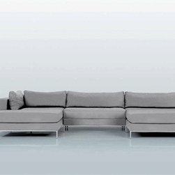 Ahlmeda Double-Chaise Sectional - Features: