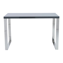 "Eurostyle - Dillon Desk 48"" x 24""-High - Let this sensational desk be one of the first things people see when they come into your space. It sports a beautiful surface and a shimmering wide-open base, blended together to confidently anchor a room."