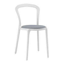 Modway Imports - Modway EEI-1462-WHI-GRY Assist Dining Side Chair In White Gray - Modway EEI-1462-WHI-GRY Assist Dining Side Chair In White Gray