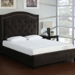 None - Storm Wood Slat California King-size Platform Bed - Give your bedroom a contemporary look while providing a comfortable place to rest in this wooden platform bed. The bed features a solid wood construction,with cross slats and center supports included that removes the need for a box spring.