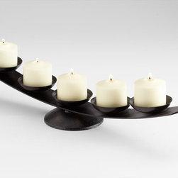 Cyan Design - Zen Master Candleholder - Zen master candleholder - black bronze