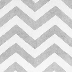 Zig Zag Gray & Black Chevron Floor Rug