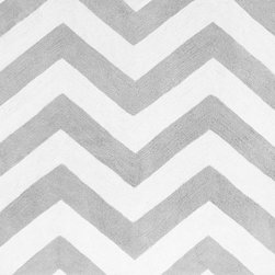 Sweet Jojo Designs - Zig Zag Gray & Black Chevron Floor Rug - The Zig Zag Gray & Black Chevron Floor Rug by Sweet Jojo Designs, along with the  bedding accessories.