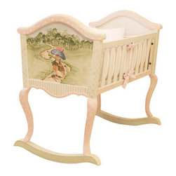 AFK Art for Kids Furniture Cradle Enchanted Forest - This hand-crafted cradle is a piece that will be enjoyed for generations. Adding a sweet English detail to a nursery, master bedroom, or any room in the house, I love this piece for its subtle detail of Potter's Benjamin Bunny.