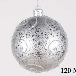 Christmas at Winterland - Christmas at Winterland WL-BALL-120-SLV 4.7 Inch Ball Ornament Silver with Silve - Christmas at Winterland WL-BALL-120-SLV 4.7 Inch Ball Ornament Silver with Silver GlitterJazz up your holidays with this gorgeous 4.7 inch round glittery Silver metallic ball ornament. Shatterproof plastic construction makes this a perfect addition for an environment with small children and animals.Christmas at Winterland WL-BALL-120-SLV Features: