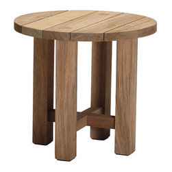 Frontgate - Croquet Outdoor Teak Reclaimed Outdoor End Table, Patio Furniture - Marine-grade Burmese teak is ideal for any environment, including beach and oceanfront destinations. Mortise-tenon construction provides long-lasting durability. As with all teak products, a natural patina will occur over time. The Croquet Teak Coffe Table from Summer Classics&reg embodies the casual elegance of a true aristocrat. Part of the Croquet Teak Collection by Summer Classics&reg .  . . Note: Due to the custom-made nature of the cushions, any fabric changes must be made within 48 hours of ordering.