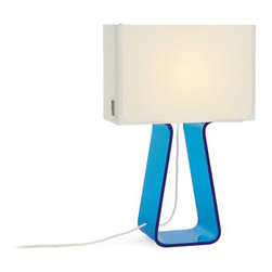 Tube Top Colors Table Lamps - This is one of my favorite lamps for a modern room.  I love the open acrylic look with a splash of color.