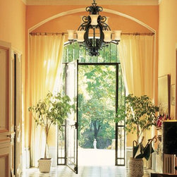 Cool Ideas of Step Lighting and Hallway Lights - A stunning, low-hanging chandelier creates a memorable first impression.