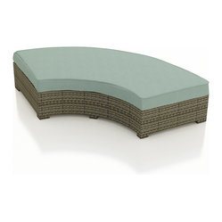 Hampton Radius Curved Backless Bench, Spa Cushions
