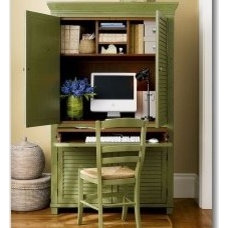 Home office in Living room | furniture and decor blog