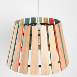 Spectrum Pendant Shade - I love how this lamp is reminiscent of a xylophone. (Am I the only one who sees that?) It reminds me of middle school music class, and makes it an awesome lighting fixture for a child's room.