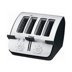 T-Fal - T-Fal TT7461002 Avante Deluxe 4-slice Black Toaster - Avante angled design provides view and safe, easy removal of toast Deluxe 4-slice toaster includes button to stop toasting at any time Appliance features extra-wide, self-adjusting slots for any bread thickness