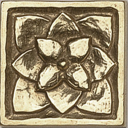 Foundry Art Metal Tile - Ann Sacks Tile & Stone - These traditional bronze tiles are just beautiful inlaid in a floor or backsplash, or even randomly in a glass mosaic bathroom tile.